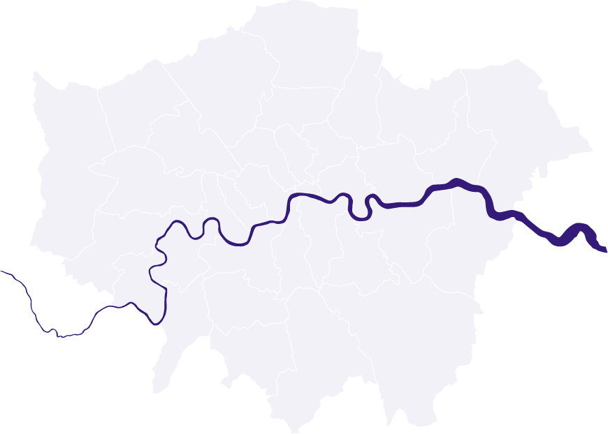 Illustration of London and River Thames